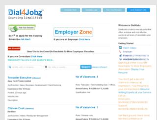 dial4jobz.in screenshot