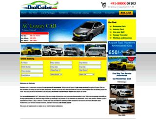 dialcabs.com screenshot