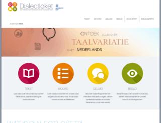 dialectloket.be screenshot