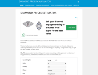 diamond-calculator.com screenshot