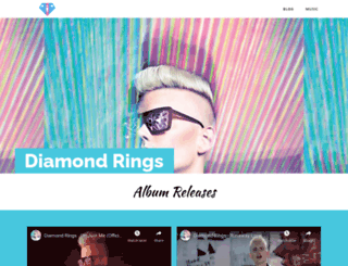 diamondringsmusic.com screenshot