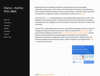 dianaascher.com screenshot