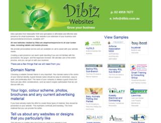 dibiz.net.au screenshot