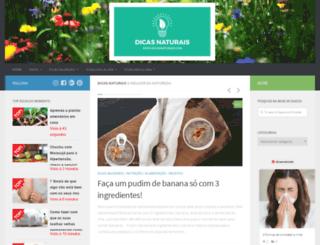 dicasnaturais.com screenshot