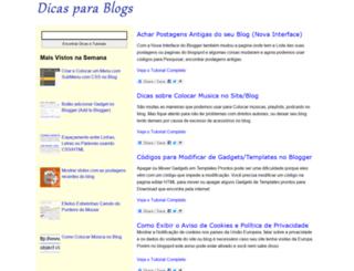 dicasparablogs.com.br screenshot