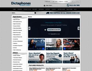dictaphones.co.uk screenshot