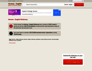 dictionary-german-english.com screenshot