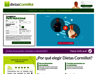 dietascormillot.com screenshot