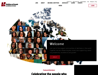 dietitians.ca screenshot