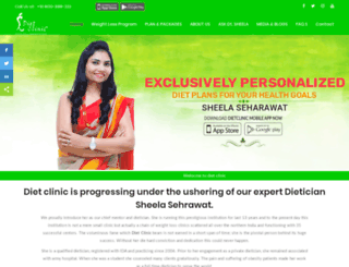 dietitiansheela.com screenshot