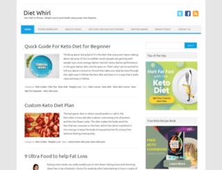 dietwhirl.com screenshot