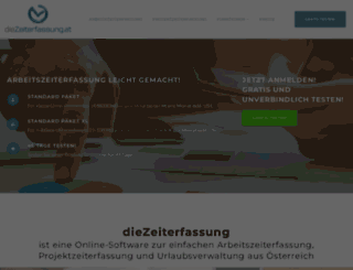 diezeiterfassung.at screenshot