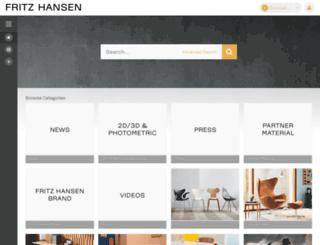 digitalassets.fritzhansen.com screenshot