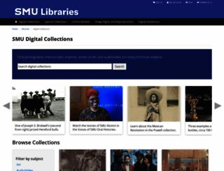 digitalcollections.smu.edu screenshot