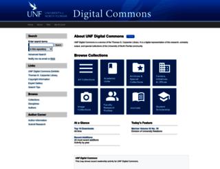 digitalcommons.unf.edu screenshot