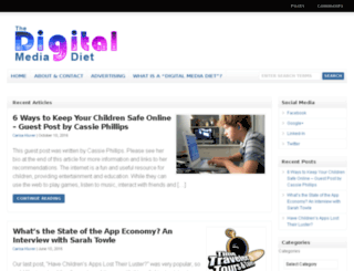 digitalmediadiet.com screenshot