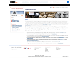 digitalpreservation.gov screenshot