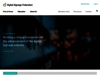 digitalsignagefederation.org screenshot