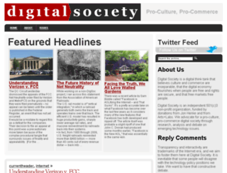 digitalsociety.org screenshot