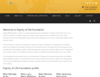 dignityoflifefoundation.com screenshot
