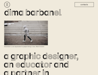 dimabarbanel.com screenshot