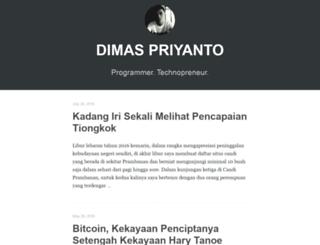 dimaspriyanto.com screenshot