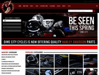 dimecitycycles.com screenshot