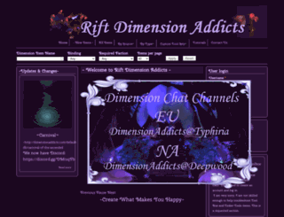 dimensionaddicts.com screenshot