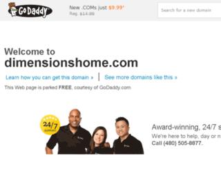 dimensionshome.com screenshot