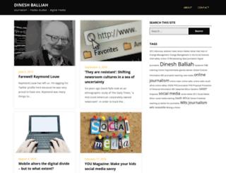 dineshballiah.com screenshot