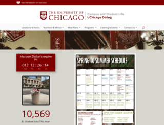 dining.uchicago.edu screenshot