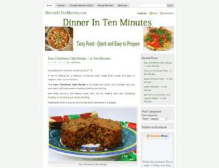 dinnerintenminutes.com screenshot