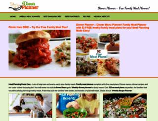 dinnerplanner.com screenshot