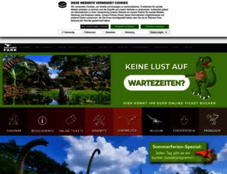 dinopark.de screenshot