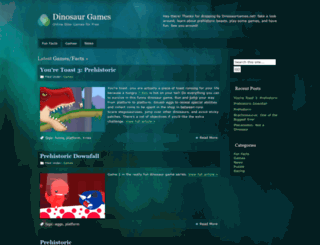 dinosaurgames.net screenshot