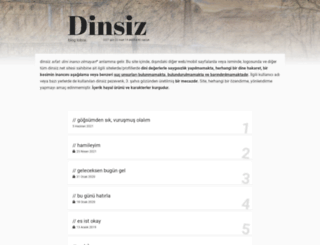 dinsiz.net screenshot
