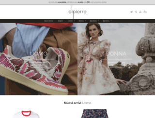 dipierrobrandstore.it screenshot