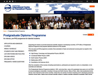 diploma.ictp.it screenshot