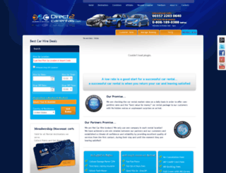 direct2carrentals.com screenshot