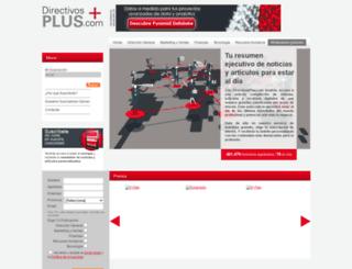 directivosplus.com screenshot