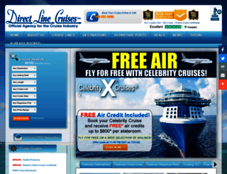 directlinecruises.com screenshot