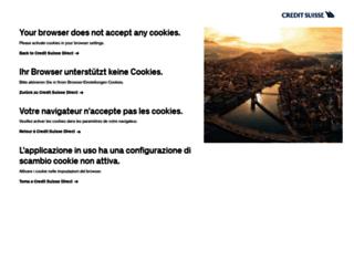 credit suisse direct net login