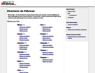 directoriodefabricas.com screenshot
