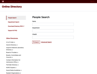 directory.uchicago.edu screenshot