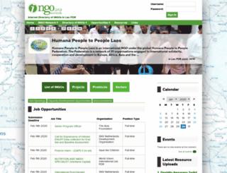 directoryofngos.org screenshot