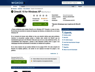 directx-10-for-windows-xp.waxoo.com screenshot