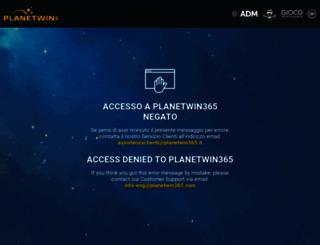 diretto.planet365win.com screenshot