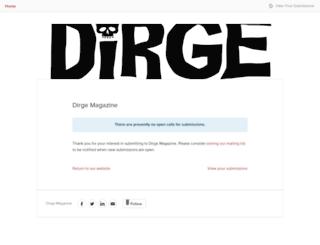 dirgemagazine.submittable.com screenshot
