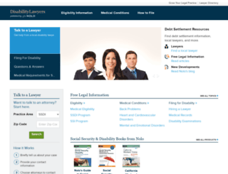 disabilitylawyers.com screenshot