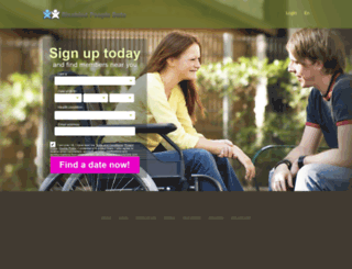 disabledpeopledate.com screenshot